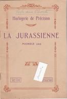 """Fascicule Illustré 16 Pages / Horlogerie / """"La Jurassienne"""" Morez Jura - France"""