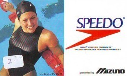 Télécarte SPEEDO (2) *  Japon * Phonecard  Japan Telefonkarte Janet Evans - Mode