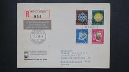 Lettre Recommandé FDC Jeux Olympiques 15 I 1948 De Bern Pour Maubeuge France Zumstein 25W A 28W - FDC