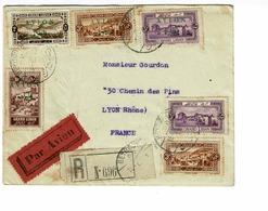 AVIATION PLI GRAND LIBAN AVION 9 A 12 .R. CACHET 105 CERCLE 1925 - Libanon
