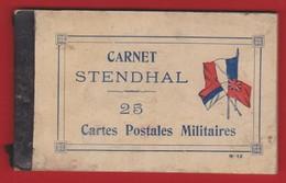 CARNET STENDHAL De 25 Cartes Postales Militaires - Cartes De Franchise Militaire