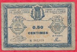 50 Centimes Chambre De Commerce De St Omer  Dans L 'état (123) - Chambre De Commerce