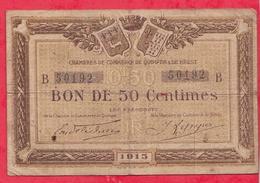 50 Centimes Chambre De Commerce De Quimper & Brest  Dans L 'état (125) - Chambre De Commerce