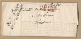 Lettre Circulaire Ministère Des Finances --- Des Domaines Affranchi Par état De Paris A Orléans Verso TAD 25/11/1830 - 1801-1848: Precursors XIX