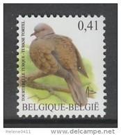 TIMBRE NEUF DE BELGIQUE - OISEAU DE BUZIN : TOURTERELLE TURQUE N° Y&T 3129 - Pigeons & Columbiformes