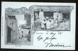 TANZANIA - ZANZIBAR - CARTOLINA VIAGGIATA NEL 1904  CON 2 VEDUTINE - Tanzania