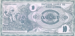 Lotto Di N. 2  Banconote Della MACEDONIA  / 10 Dinaro E 25 Dinaro Macedone. - Macedonia