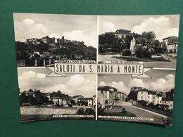 Cartolina Saluti Da S.Maria A Monte - Piazza Del Monumento E Terrazza - 1957 - Pisa