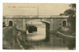 Lyon - Vue De La Gare D'Eau, à Perrache (pont, Chaland) Circulé 1905 - Lyon