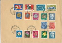 406-409, 410,411,WI 205-209, WII 118-122, Obl. Rüschlikon 31.12.64 - Suisse