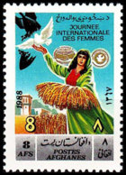 Afghanistan, 1989, International Woman's Day, United Nations, MNH, Michel 1638 - Afghanistan