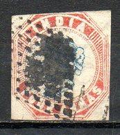 GRANDE-BRETAGNE - (Compagnie Des Indes) - 1854 - N° 5 - 4 A. Rouge Et Bleu - (Effigie De La Reine Victoria) - Inde (...-1947)