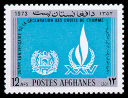 Afghanistan, 1973, Human Rights Declaration, United Nations, MNH, Michel 1148 - Afghanistan