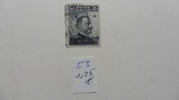 Italie > Bureaux Etrangers > Levant :timbre N° 53  Oblitéré - Bureaux Etrangers