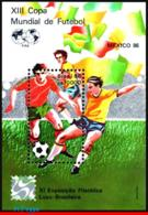Ref. BR-2042 BRAZIL 1986 FOOTBALL-SOCCER, WORD CUP CHAMPIONSHIP,, MEXICO, FIFA, SPORT, LUBRAPEX, S/S MNH 1V Sc# 2042 - Brasilien