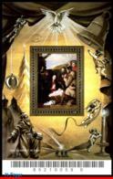 Ref. BR-2973 BRAZIL 2005 CHRISTMAS, PAINTING OSCAR PEREIRA DA, SILVA, RELIGION, CRIB, ART, S/S MNH 1V Sc# 2973 - Brésil