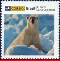Ref. BR-3258-19 BRAZIL 2013 ANIMALS, FAUNA, BEAR,, PERSONALIZED STAMP, MNH 1V Sc# 3258 - Brésil