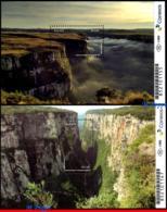 Ref. BR-V2018-20 BRAZIL 2018 - BRAZILIAN CANYONS, RS/SC, FORTALEZA ITAIMBEZINHO, NATURE, S/S MNH, GEOLOGY 2V - Géologie