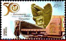 Ref. MX-2766 MEXICO 2011 HEALTH, DELEGATION IMSS VERACRUZ, 50TH ANNIV.,SCULTURE,RELIGION, MNH 1V Sc# 2766 - Mexique