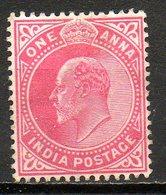 GRANDE-BRETAGNE - (Compagnie Des Indes) - 1906 - N° 75 - 1 A. Rouge Carminé - (Edouard VII) - India (...-1947)