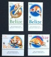 Belize 2004 WWF Animals Opossum MNH** Mi.1285-88/ Nice Set With Printed Margins; - Belize (1973-...)