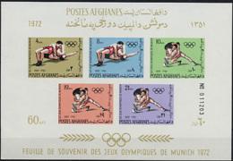 Afghanistan, 1972, Olympic Summer Games Munich, Wrestling, MNH, Michel Block 68 - Afghanistan