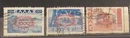 Grecia Greece 1946 Overprinted 3 Stamps Used - Grecia
