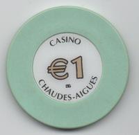 Jeton De Casino Chaudes-Aiguës €1 - Casino