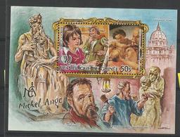 Guinée YT** MNH  BF 58 Michel Ange Peintre Sculpteur Tableau - Kunst