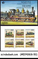 YUGOSLAVIA - 1992 TRAINS STEAM LOCOMOTIVES / RAILWAY - STAMPBOOKLET - Eisenbahnen