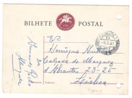 1961 Portugal, AUTO AMB, AMBULANCIA Postmark, Envelope/letter - Perfored - BLAMB - BL-11 - Interi Postali