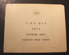 SOUVENIR BLOC  9 Octobre 1971 PAKISTAN U P U DAY - Pakistan