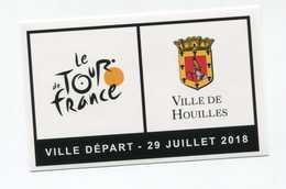 """Sticker Autocollant """"Le Tour De France / Houilles Ville Départ 29 Juillet 2018"""" Cyclisme - French Cycling - Cyclisme"""
