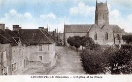 LINGREVILLE: L'Eglise Et La Place - Autres Communes