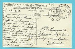 Kaart (Anvers) Stempel POSTES MILITAIRES 1 Naar OOSTENDE Op 26/09/1914 (Offensief W.O.I) - WW I