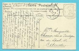 Kaart (Anvers) Stempel POSTES MILITAIRES 8 Op 26/09/1914 Naar OOSTENDE Op 28/09/1914 (Offensief W.O.I) - WW I