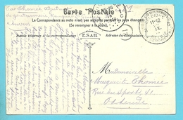 Kaart (Anvers) Stempel POSTES MILITAIRES 8 Op 28/09/1914 Naar OOSTENDE Op 29/09/1914 (Offensief W.O.I) - WW I