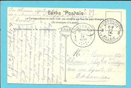 Kaart (Anvers) Stempel POSTES MILITAIRES 8 Op 29/09/1914 Naar OOSTENDE Op 30/09/1914 (Offensief W.O.I) - WW I
