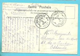 Kaart (Anvers) Stempel POSTES MILITAIRES 1 Op 4/10/1914 Naar OOSTENDE Op 5/10/1914 (Offensief W.O.I)(OKTOBER 1914)!! - WW I