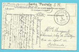 Kaart (Anvers) Naar OOSTENDE Op 2/10/1914 (Offensief W.O.I)(OKTOBER 1914)!! - WW I
