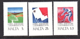 MALTA  501-3    **  RIGHT  TO  WORK,  ENVIRONMENT - Malta