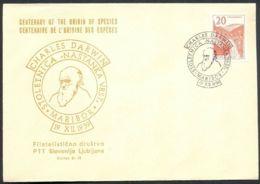 Yugoslavia, 1959-12-19, Charles Darwin, Special Postmark & Cover - Altri