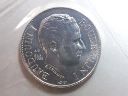 Médaille Argent Baudouin 1er 1980 Silver 925 - Royaux / De Noblesse