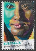 Australia 2017 Street Art $1 Type 3 Sheet Stamp Good/fine Used [39/31926/ND] - 2010-... Elizabeth II