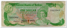 BELIZE,1 DOLLAR,1983,P.43,FINE,2 SMALL PIN HOLES - Belize