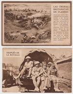 1324/ WW1. British Soldiers / Soldats Anglais. 2 Spanish Postcards / 2 Cartes Espagnoles.- Non écrites. Unused. - Weltkrieg 1914-18