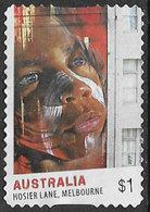 Australia 2017 Street Art $1 Type 4 Self Adhesive Good/fine Used [39/31930/ND] - 2010-... Elizabeth II