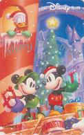 Télécarte Japon / 110-203503 - DISNEY STORE - NOEL 1998 DONALD MICKEY MINNIE - CHRISTMAS Japan Phonecard - Disney