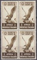 AFRICA ORIENTALE ITALIANA - 1938 - Quartina Nuova MNH Di Yvert 2. - Italienisch Ost-Afrika