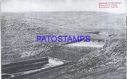 107389 ISLAND SALOMON POOLS VIEW PARTIAL POSTAL POSTCARD - Salomon